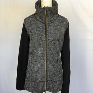 Lululemon Daily Yoga Jacket Grey/Black 12